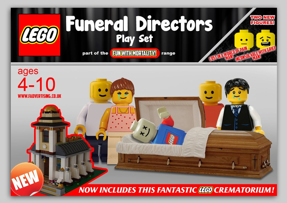 Funeral Home Lego Set