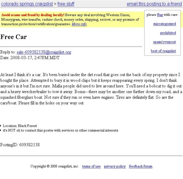 Confessions Of A Funeral Director 11 Morbid Ads On Craigslist