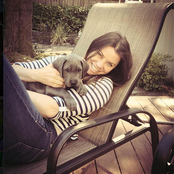 Brittany Maynard with her Great Dane, Charlie