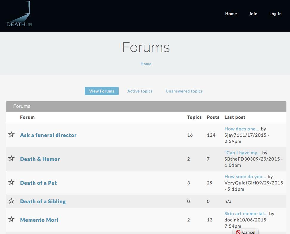 Forums DEATHub